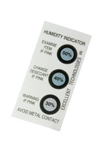 Indicator Card displaying a relative humidity from 30 to 50 percent